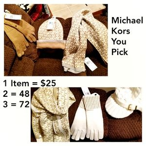 NWT MICHAEL KORS HAT SCARF GLOVES PICK 1 OR MORE!